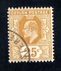 Ceylon #186,  F/VF, Used, CV $4.00 ....  1290152