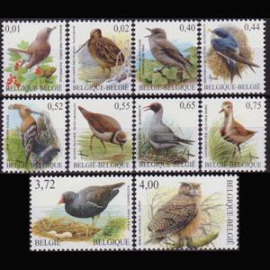 BELGIUM 2003 - Scott# 1970-9 Birds Set of 10 NH