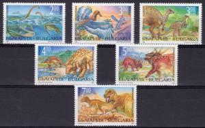 Bulgaria 1994 Sc#3817/3822 DINOSAURS/PREHISTORIC ANIMALS Set (6) MNH