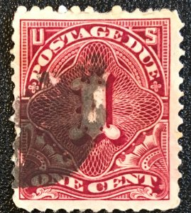 J29, Postage Due 1c, 12 perf., NWM, single, deep claret, Vic's Stamp Stash