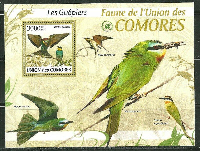 Comoro Islands MNH S/S Bee-Eaters Birds 2009