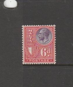 Malta 1926/7 Postage 6d MM SG 165