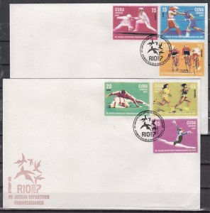 Cuba, Scott cat. 4271-4726. Pan American Games issue. 2 First day covers. ^