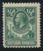 Northern Rhodesia  SG 1 SC# 1 Mint Light hinge - see details