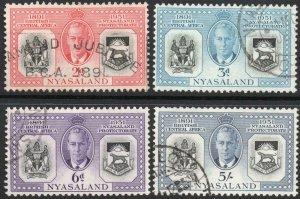 NYASALAND-1951 Diamond Jubilee Set Sg 167-170 FINE USED V37852