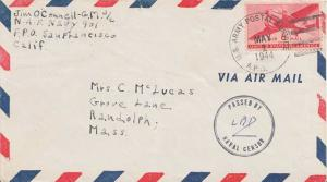 United States Fleet Post Office 6c Transport 1944 U.S. Army Postal Service A....
