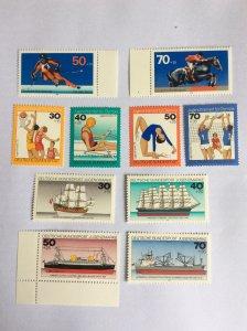 German 3 sets of MNH stamps