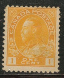 CANADA Scott 105 MH* 1922 Toned 1c Admiral stamp CV$17.50