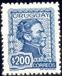 General Jose Artigas, Uruguay stamp SC#847 mint