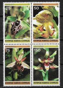 Cyprus MNH Block 568a Orchids 1961