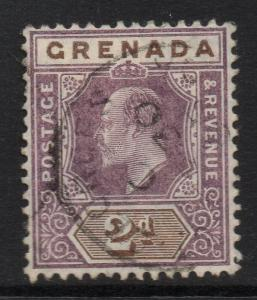 GRENADA SG69 1905 2d PURPLE & BROWN USED