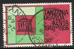 Kenya, Uganda & Tanzania 1966 Scott# 168 Used