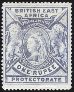 KUT-BEA 1897 1r Grey Blue SG 92 Scott 102v LMM/MLH Cat £120($162)
