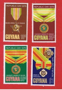 Guyana  #210-213   MNH OG  Republic Day  Free S/H