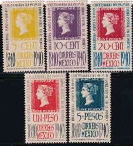 Mexico 1940 754-758 MNH Set