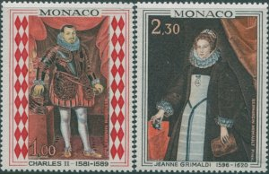 Monaco 1968 SG932-933 Paintings set MNH