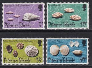 Pitcairn Islands . # 137-140, Sea Shells, Mint NH, 1/2 Cat.