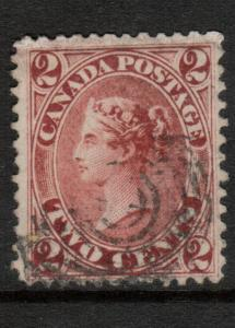 Canada #20v Very Fine Used Dash In Lower Right 2 Variety