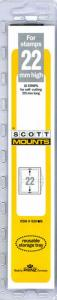 Prinz Scott Stamp Mount 22/215 CLEAR Background Pack of 22