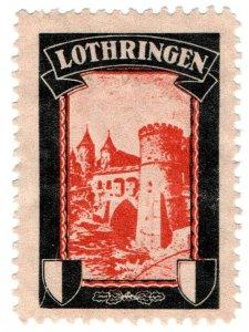 (I.B) Germany Cinderella : Lost Colony Label (Lothringen)