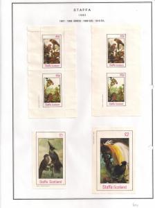 SCOTLAND - STAFFA - 1982 - Birds #10 - Perf, Imp 2v, Souv, D/L Sheets - MLH