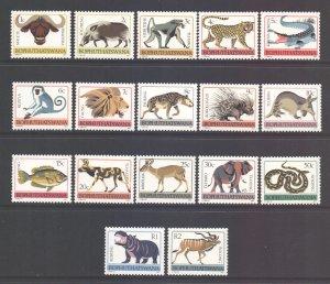South Africa Bophuthatswana Scott 5/21 - SG5a/21, 1977 Tribal Totems Set MH*