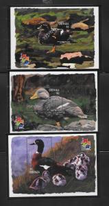 BIRDS - GRENADA #3093-5-DUCKS  MNH