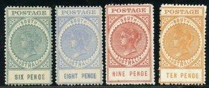 SOUTH AUSTRALIA  SCOTT#137/42    MINT HINGED REMNANTS  SCOTT VALUE $304.00