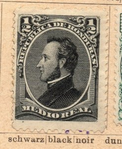 Honduras 1878-89 Early Issue Fine Mint Hinged 1/2r. NW-11868
