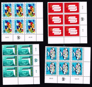 UN STAMP MNH INSCRIPTION BLK OF 6 STAMS LOT