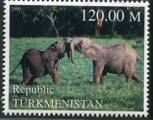 Turkmenistan 2000 ELEPHANTS 1 value Perforated Mint (NH)