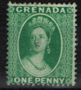 Grenada 1878 1d Green SG16 P.15 Fine Mtd Mint