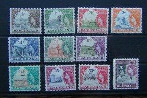 Basutoland 1961 - 1963 set to 1r MM many MNH