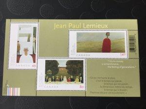 Canada Mint NH #2068 Jean-Paul Lemieux Art souvenir sheet
