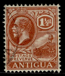 ANTIGUA GV SG69, 1½d pale red-brown, FINE USED.