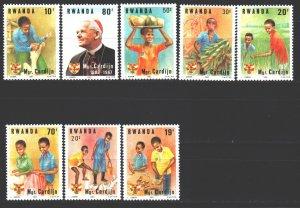 Rwanda. 1983. 1234-41. Cardinal, children. MNH.