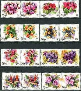 NIUE Sc#317-331 1981 Flowers Part Set To $3 OG Mint NH