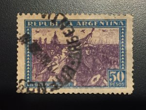 Revolution of 1930, SG#AR604, 50p peso, cat:$750, South America 1/2c,