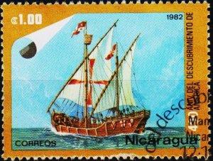 Nicaragua. 1982 1cor S.G.2408  Fine Used