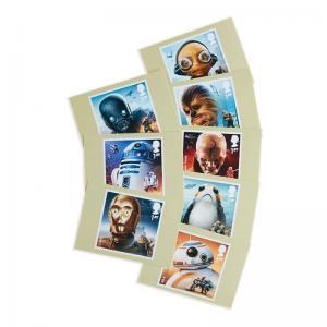 H01 Grossbritannien 2018 Star Wars Postcards MNH Postfrisch
