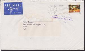 FIJI 1992 cover ex Australia RECEIVED IN DAMAGED CONDITION AT GPO SUVA......5944