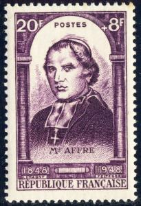 FRANCE - 1948 - Yv.802 / Mi.820 20fr+8fr violet Mgr Affre - Neuf*