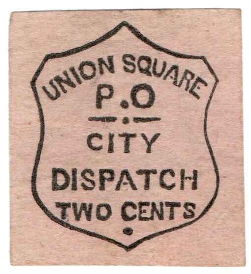 (I.B) US Local Post : Union Square City Dispatch 2c