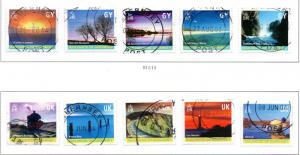 Guernsey Sc 742m-w 2001 Island Views stamp set used photo