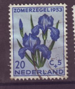 J15704 JLstamps 1953 netherlands hv of set used #b253 iris