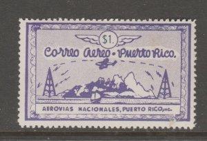 Puerto Rico Private airmail stamp MNH Gum- slight gum disturb 2-14-21-1a