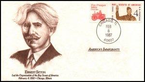 US American Immigrants Ernest Seton 1987 Cover