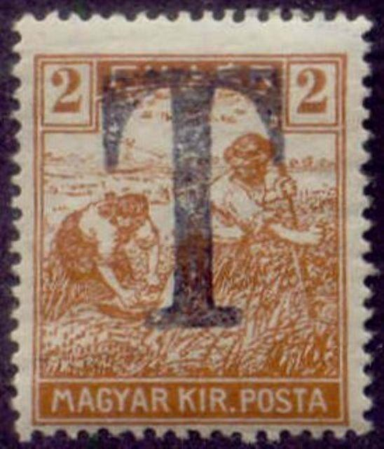 Hungary 1915-8 'T' Postage Due Overprint on 2f Harvesting Stamp
