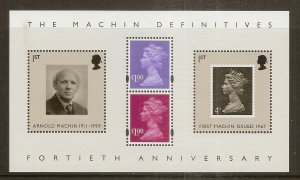 GB 2007 40th Anniv Machin Mini Sheet MNH