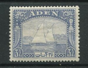 ADEN - Scott 7 - Dhow Issue - 1937- MLH - Single 3.1/2a Stamp